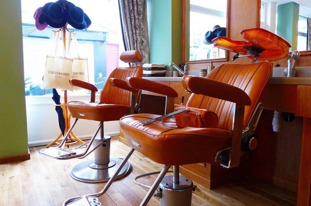 Chaises de Barbier en cuir